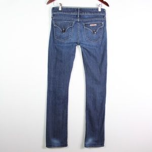 Hudson Jeans Beth Mid Rise Baby Bootcut Dark Wash